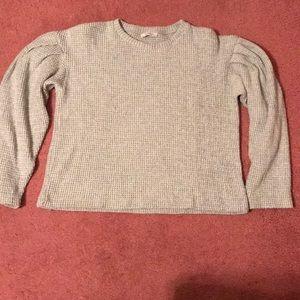 Zara waffle sweater